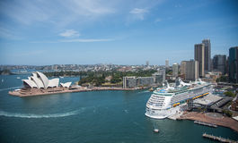 Sydney Opera House and Circular Quay Development Stock Photography