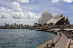 Sydney Opera House and city buildings. Sydney skyline, Sydney Opera House and city buildings Stock Images