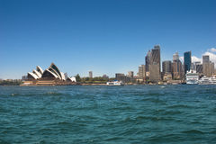 Sydney Opera House & City Skyline Royalty Free Stock Photography