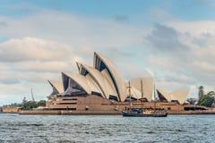 Sydney Opera House and Clipper Ship Royalty Free Stock Photos
