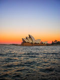 Sydney opera house with colorful sky Royalty Free Stock Image