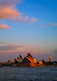 Sydney opera house with colorful sky Stock Photos