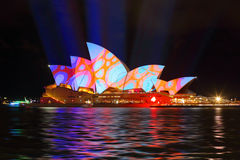 Sydney Opera House in colourful circles design Stock Images