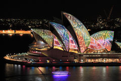 Sydney Opera House in colourful reptile snakeskin Royalty Free Stock Image