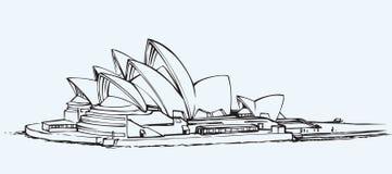 Sydney Opera House Croquis de vecteur Photos libres de droits