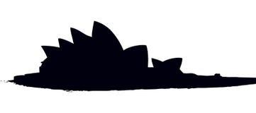 Sydney Opera House Croquis de vecteur illustration libre de droits