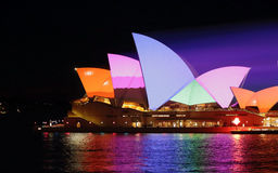 Sydney Opera House dans le technicolour Image stock