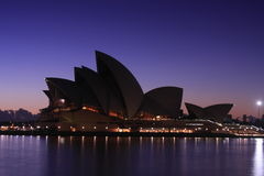 Sydney Opera House at dawn. Sydney Opera House at sunrise, on 21 March 2009.  A $1 Billion upgrade project is being considered for the World Heritage landmark Stock Image