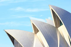 Sydney Opera House roof detail. Close-up of the peaked roofs of the Sydney Opera House building, Australia Royalty Free Stock Photos