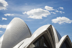 Sydney opera house detail in australia Royalty Free Stock Images