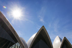 Sydney opera house detail in australia Stock Image