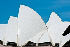Sydney Opera House, detalle del tejado imagen de archivo libre de regalías