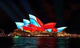 Sydney Opera House duirng Vivid Sydney Stock Photos