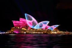 Sydney Opera House duirng Vivid Sydney Stock Photo