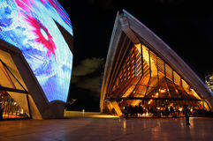 Sydney Opera House duirng Vivid Sydney Stock Photography