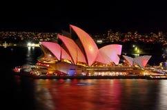 Sydney Opera House duirng Vivid Sydney Royalty Free Stock Images