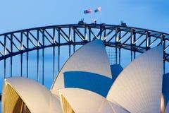 Sydney Opera House at Dusk Stock Images