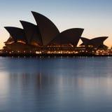 Sydney Opera House at Dusk Royalty Free Stock Photo