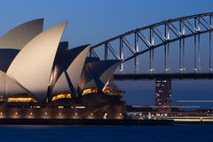 Sydney Opera House at Dusk Stock Photos