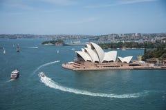 Sydney Opera House e paesaggio urbano Immagine Stock
