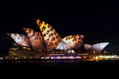 Sydney Opera House en Sydney viva Imagenes de archivo