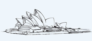 Sydney Opera House EPS 10 royalty-vrije illustratie