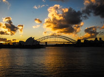 Sydney opera house in the evening time. Stock Image