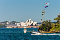 Sydney Opera House from ferry Stock Photography