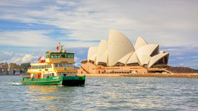Sydney Opera House and Ferry Royalty Free Stock Photo