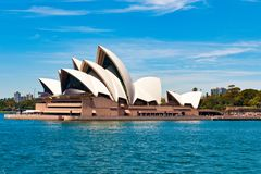 Sydney Opera House, forma straordinaria del teatro dell'opera fotografia stock