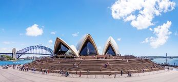 Sydney Opera House front. Stock Images