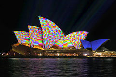 Sydney Opera House in geometric colour Royalty Free Stock Image