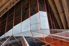 Sydney Opera House, Glas-Windows-Detail Stockfotografie