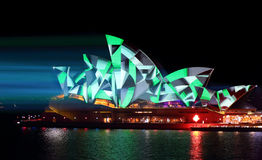 Sydney Opera House green geometry patterns Royalty Free Stock Photos