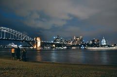 Sydney Opera House, hamnbro och CBD Royaltyfri Fotografi