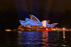 Sydney Opera House hand pulling squiggles royalty free stock photography