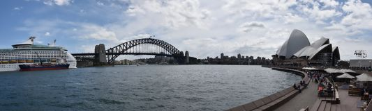 Sydney Opera House and Harbor Bridge, AUSTRALIA Royalty Free Stock Photography