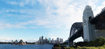 Sydney Opera House and Harbor bridge Royalty Free Stock Photos