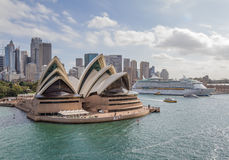 Sydney Opera House. On Sydney Harbour Stock Photos