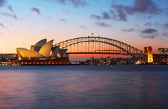 Sydney Opera House and Harbour Bridge Stock Photo