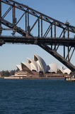 Sydney Opera House and harbour bridge, Australia Stock Photos
