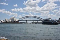 Sydney Opera House and Harbour Bridge, AUSTRALIA Royalty Free Stock Images
