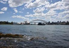 Sydney Opera House and Harbour Bridge, AUSTRALIA Stock Images