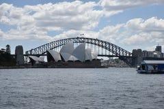 Sydney Opera House and Harbour Bridge, AUSTRALIA Royalty Free Stock Image