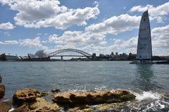 Sydney Opera House and Harbour Bridge, AUSTRALIA Stock Image