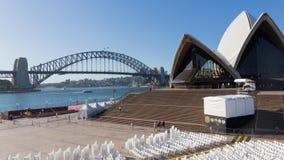 Sydney Opera House and Harbour Bridge, Australia Stock Photo