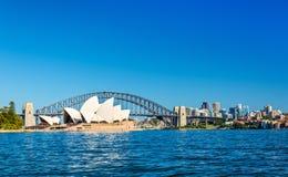 Sydney Opera House and Harbour Bridge - Australia Stock Photo
