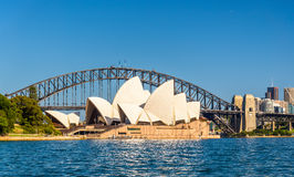 Sydney Opera House and Harbour Bridge - Australia Royalty Free Stock Photography