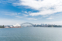 Sydney Opera House and Harbour Bridge. Australia. River Water. Wide Angle Stock Image