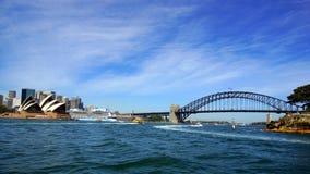 Sydney Opera House and Harbour Bridge, Australia Royalty Free Stock Photo